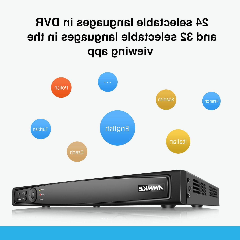 ANNKE HD NVR 1080P Bullet Security IP Camera