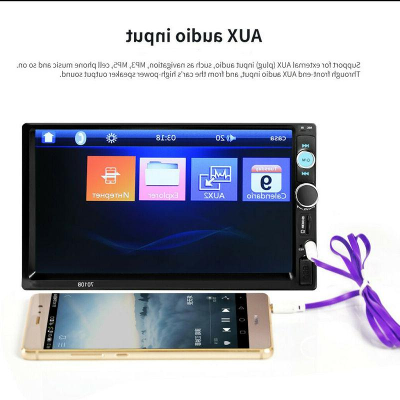 """7""""Double 1080P MP5 Player Bluetooth Screen"""
