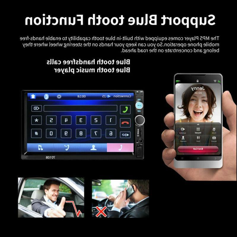 "7""Double 2Din Car MP5 Screen Radio HD+Camera"
