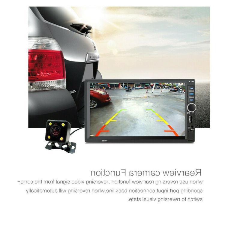 7 Inch DOUBLE DIN Car MP5 Player BT Tou+ch Screen Stereo Rad