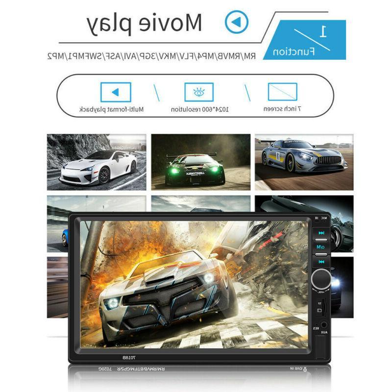 7 DOUBLE DIN Car Tou+ch Screen HD+Camera