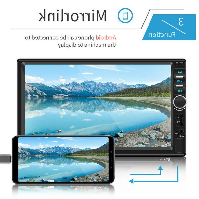 7 Inch DIN Car MP5 Tou+ch Screen HD+Camera