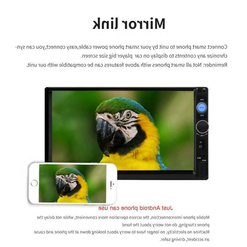 7 Inch Car Player BT Tou+ch Screen Stereo HD+Camera USA
