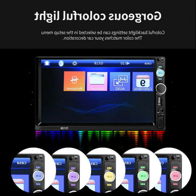 7 double 2din 1080p car mp5 player