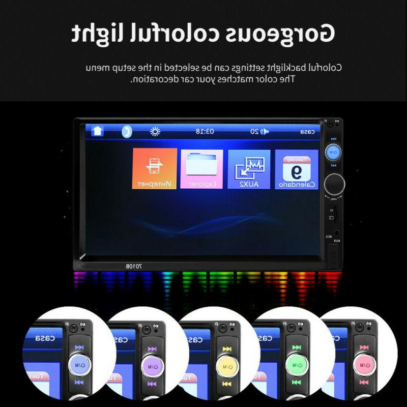 7in 2DIN Car MP5 Player Display Screen Touch Stereo Radio HD