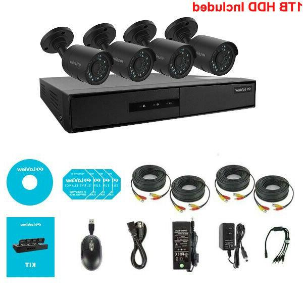 720p hd security surveillance system 4 channel