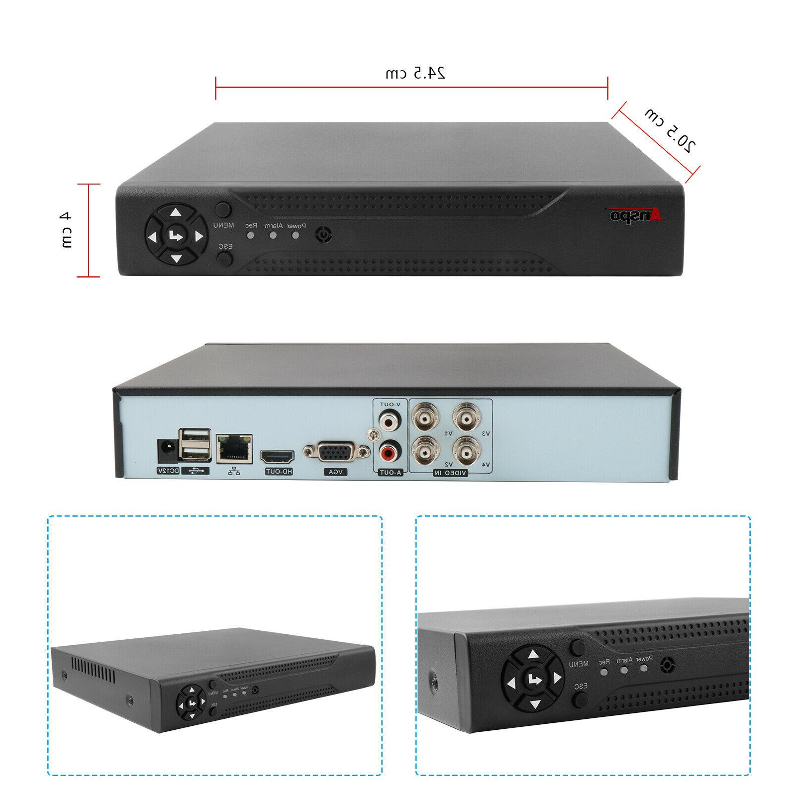 Anspo 720P HDMI 4CH DVR CCTV Camera US Fast Ship