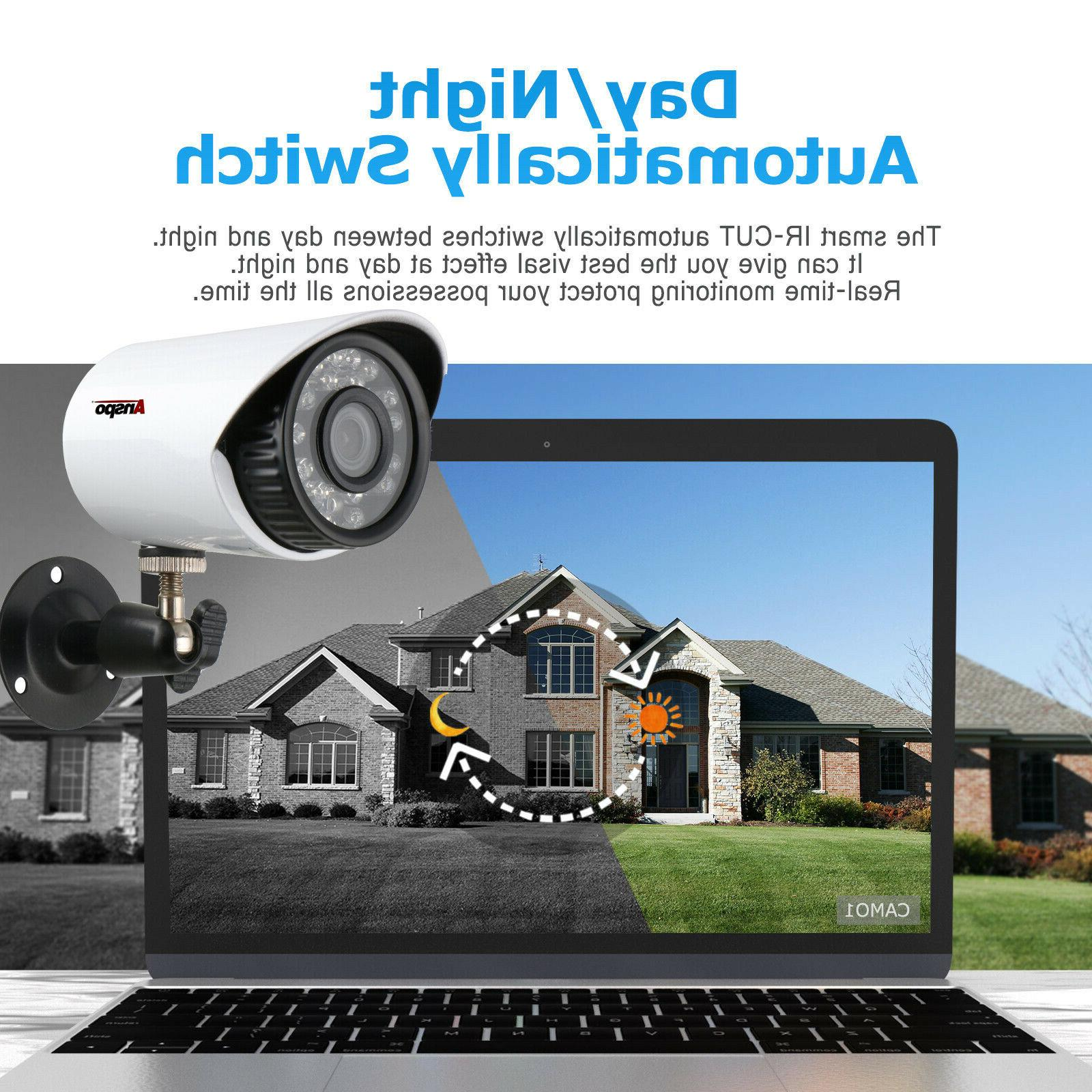 Anspo HDMI 4CH DVR IR CCTV US Fast
