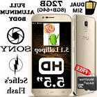 72GB GOLD Aluminum Smartphone 5.5 inch 2.5D Curved HD Quad C