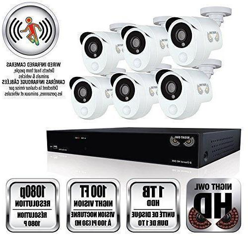 8 channel 1080p hd smart home security