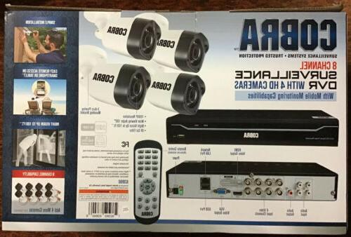 Cobra Channel System DVR 4 HD Cameras