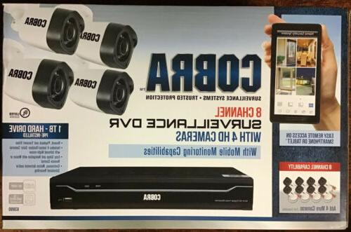 8 channel surveillance system dvr and 4
