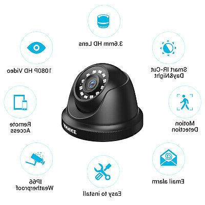 ANNKE 8CH DVR 2MP HD CCTV Smart Security IR Camera System APP
