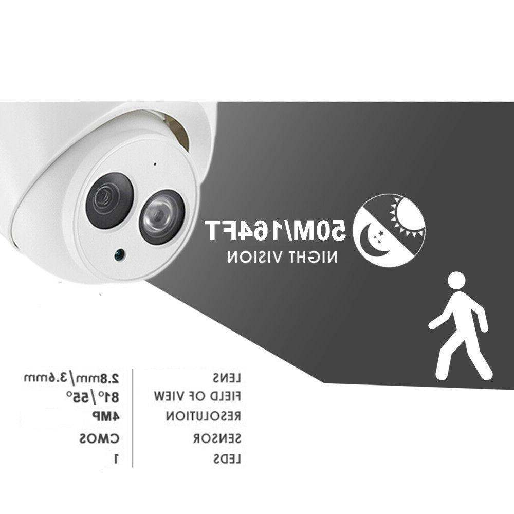 Dahua 8CH Kit H.265 NVR 4108HS-8P-4KS2 4MP HD IR Mic POE IP