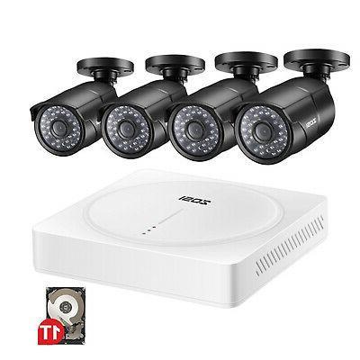 ZOSI 8CH 1080N HD DVR 24 IR Leds CCTV Waterproof security ca