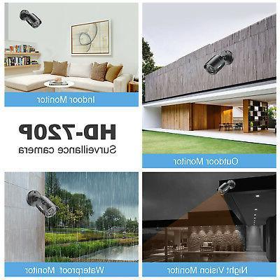 SANNCE 4pcs 720P 1500TVL Indoor CCTV Cameras IR Night Vision