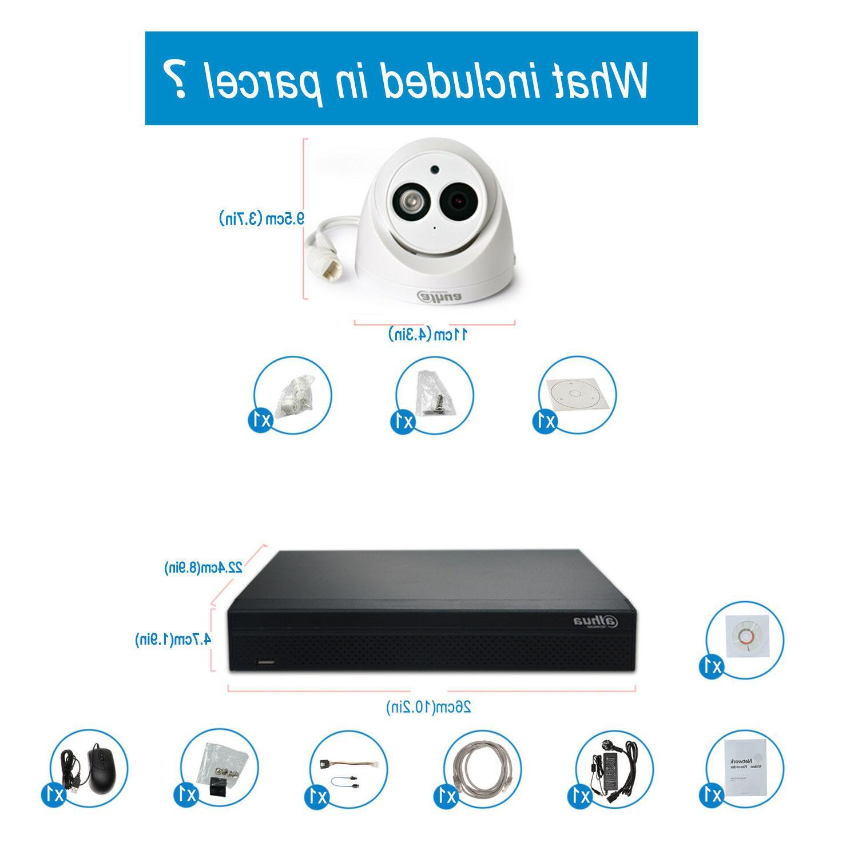 Dahua POE Kit H.265 NVR 4108HS-8P-4KS2 4MP HD Mic POE