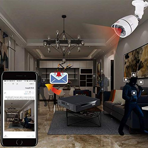 Tonton 1080P Security 5-in-1 Surveillance Indoor CCTV Bullet with and Clear