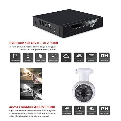 Tonton Full HD 1080P 5-in-1 Surveillance 2.0MP Waterproof Indoor CCTV with Protection Clear Vision