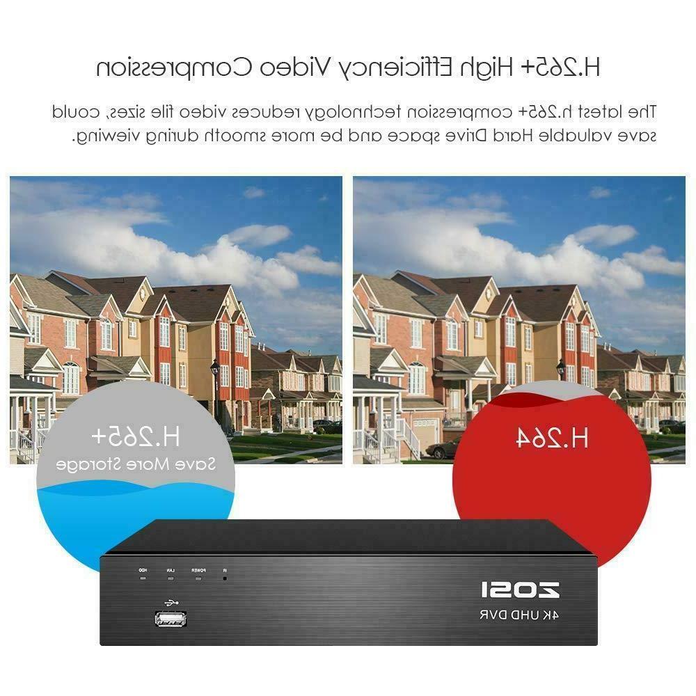 ZOSI 4K H.265+ Camera System Hard Drive 24/7