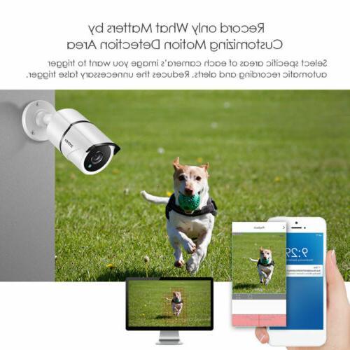 ZOSI 4K Camera with Hard Drive 8CH DVR 24/7