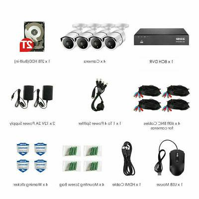 ZOSI Camera System with Hard 24/7