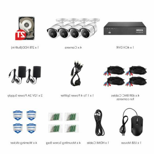 ZOSI H.265+ Camera System Hard