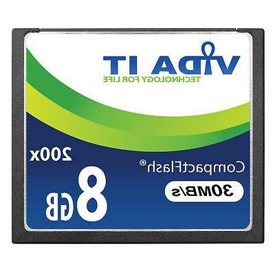 High Speed 8GB Compact Flash CF Memory Card 200X 30MB/s UHD