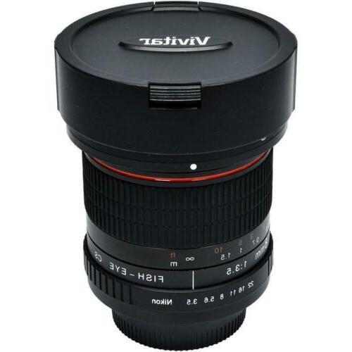 Vivitar 8mm f/3.5 Nikon Cameras D3400 D3500