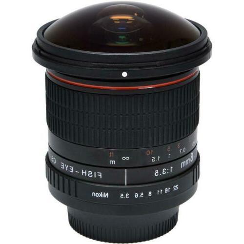 Vivitar 8mm Aspherical Nikon Cameras D3500