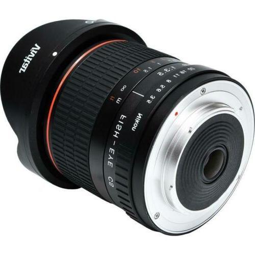 Vivitar Aspherical Fisheye for Nikon D3500