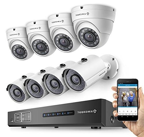 Amcrest ProHD 1080P 8CH Video Security System - Eight 2.1-Me