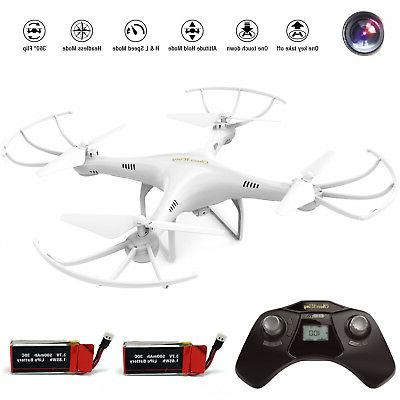 Cheerwing CW4 2.4Ghz RC Quadcopter Drone HD batteries