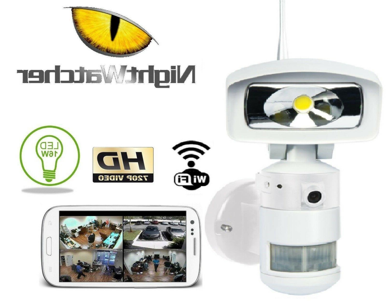 FLOOD LIGHT CAMERA Nightwatcher Robotic LED Light HD Camera