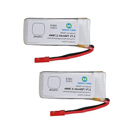 Hyf Stone Lipo Battery 3 7v 380mah 25c With 5in1 Battery: Holy Stone 2 X 3.7V 750mAh Lipo Battery