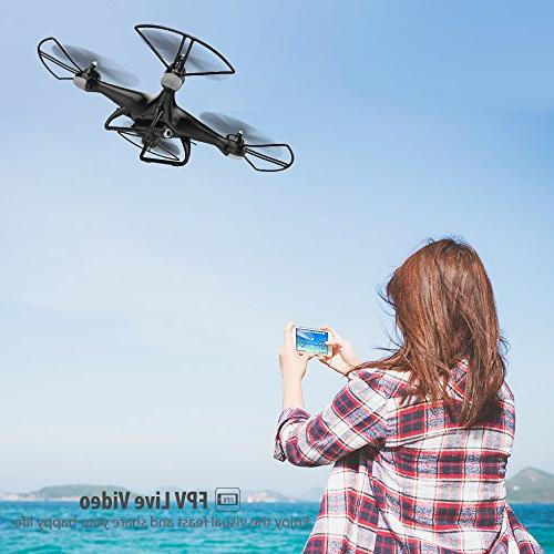 Holy RC HD Camera 120° Wide-Angle WiFi with Headless Mode Flips with Modular Black