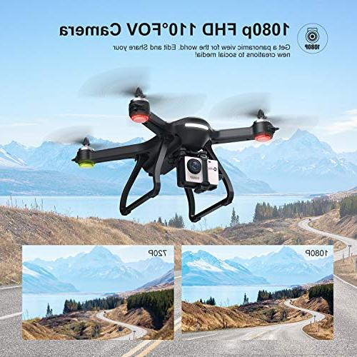 Holy Stone FPV Drone 1080p HD Camera Live Video GPS Quadcopter with Brushless Follow Me, 5G Transmission, Compatible