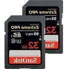 Lot 2 pcs SanDisk Extreme Pro 32GB 95MB/s SDHC Card Camera 4