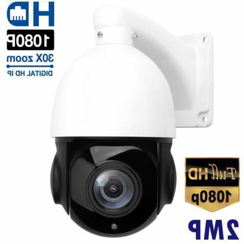 PTZ IP Camera 2MP Super HD 2592x1944 Pan/Tilt 30x Zoom Speed