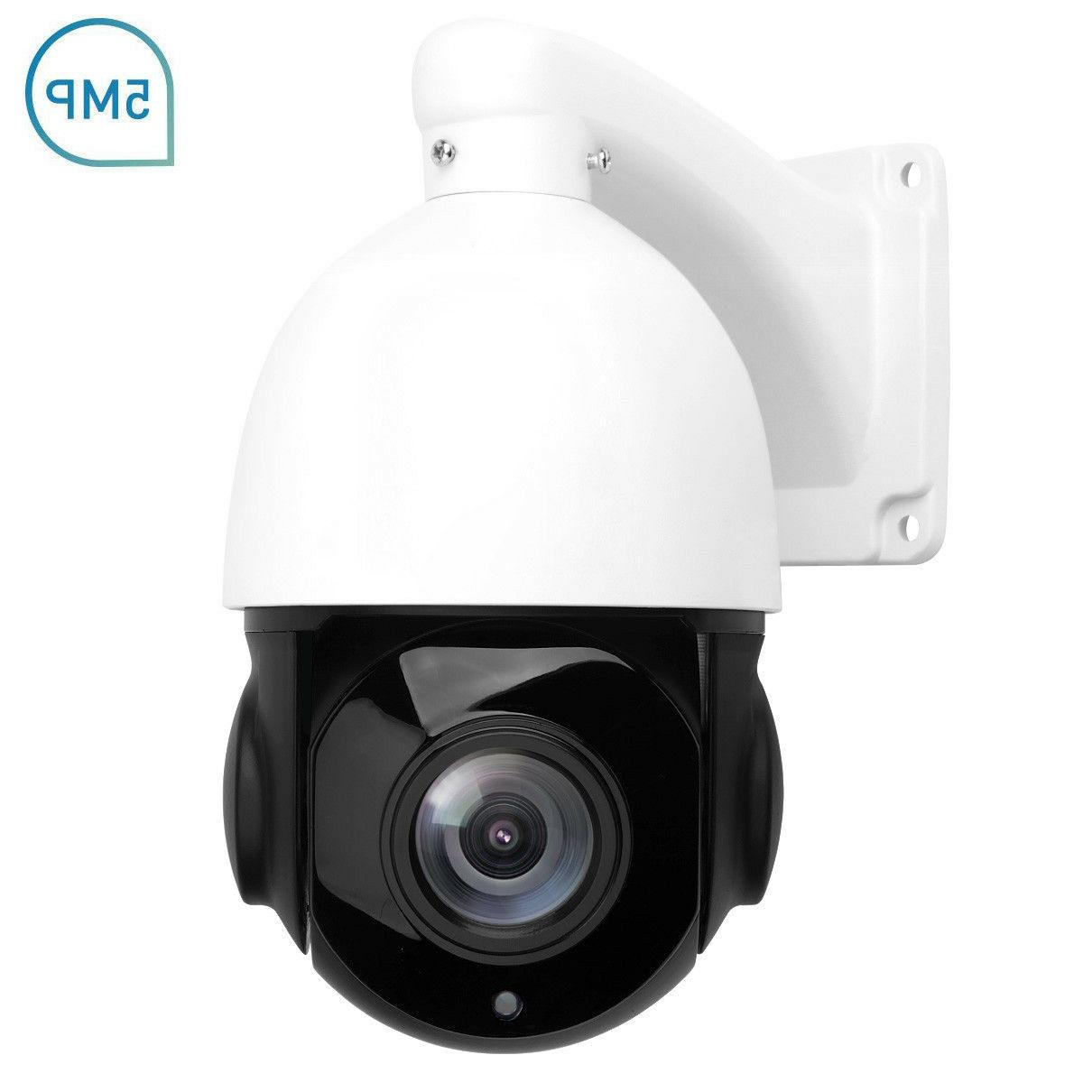 PTZ IP Camera 5MP Super HD 2592x1944 Pan Tilt 30x Zoom Speed