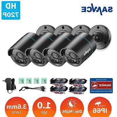 SANNCE 4X HD-TVI 720P Indoor Outdoor Security CCTV Cameras I