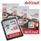 SanDisk 16GB 32GB 64GB Ultra Class 10 UHS-I SD 80MBs SGHC /