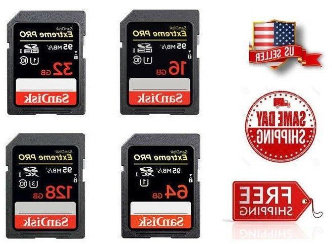 SanDisk Extreme PRO SDHC UHS-I 512GB 256GB 128GB 64GB 32GB