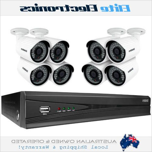 UNIDEN GNVR8580 2TB 8 CAMERAS APP DVR FULL HD SYSTEM OUTDOOR