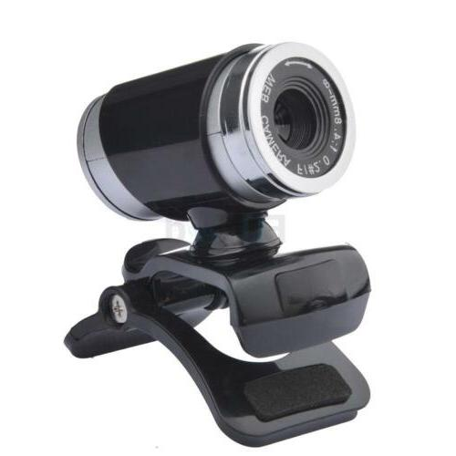 USB2.0 12MP HD Camera Web Cam 360 Degree with Mic Clip-on fo