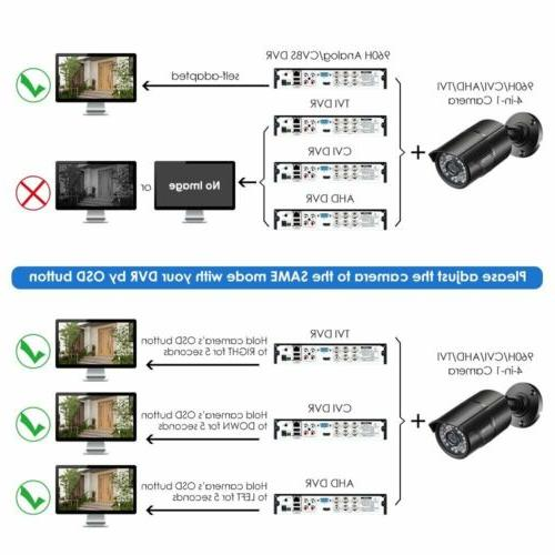 ZOSI 4 PACK 720P 4in1 HD CCTV System