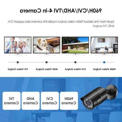 ZOSI 4 PACK 4in1 Camera CCTV Security System