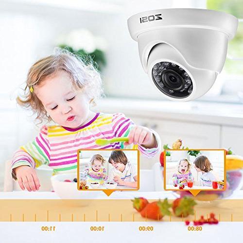 ZOSI 720p HD-TVI 8 Channel Surveillance with Hard Drive 1TB HD 1280TVL CCTV Cameras,Remote Access Motion