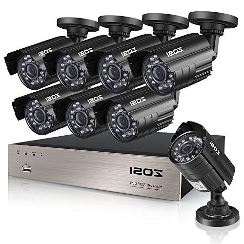 ZOSI 8-Channel HD-TVI 720P 1080N Video Security DVR Surveill