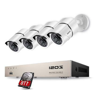 ZOSI 8CH Full True 1080P Video Security DVR 4X 1080P HD Outd